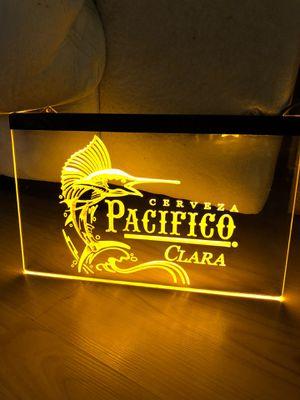 Used, PACIFICO CERVEZA LED NEON LIGHT SIGN 8x12 for Sale for sale  La Mirada, CA