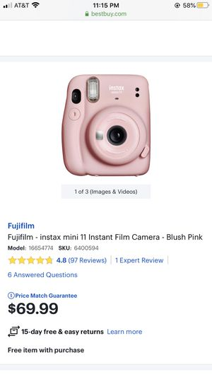 Fujifilm - instax mini 11 Instant Film Camera - Blush Pink for Sale in Temecula, CA
