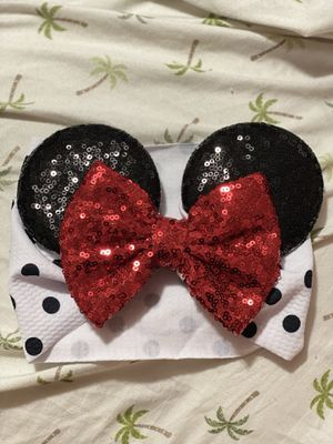 New baby Minnie mouse ears headband for Sale in Bridgeview, IL