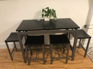 High top table w/ 4 stools for Sale in San Francisco, CA