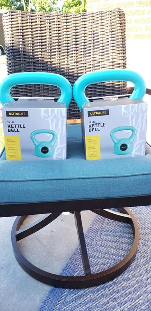 2 15lbs Kettlebell 30lbs Total $50 (New) for Sale in Evergreen Park, IL