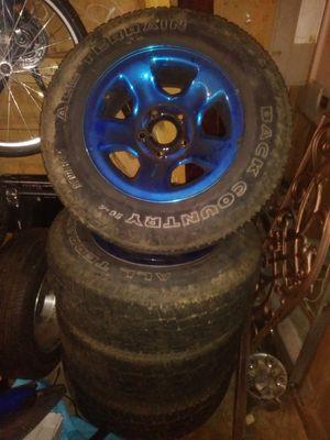 Allterain tires an rims cam off a dodge ram for Sale in Aberdeen, WA