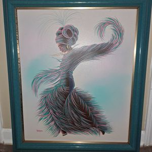 Beautiful Framed Art Signed By Kasper for Sale in Snellville, GA