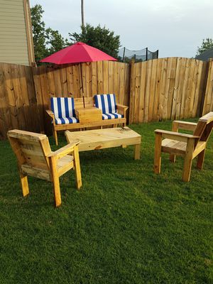 Outdoor furniture made from pallet wood for Sale in Acworth, GA