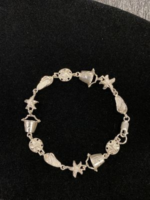 "Silver .925 Textured 8"" Diamond cut Nautical Bracelet for Sale in Rock Hill, SC"