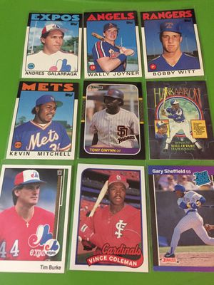 Baseball Card Pack#4- 9 Collectable Cards for Sale in Las Vegas, NV