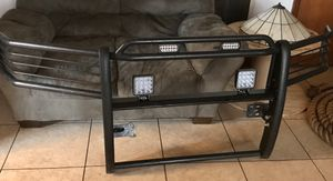 BULL BAR for FORD TRUCKS with LED LIGHTS AND STROBES for Sale in Greeneville, TN