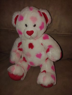 Build a bear - heart teddy bear for Sale in Burlington, NJ