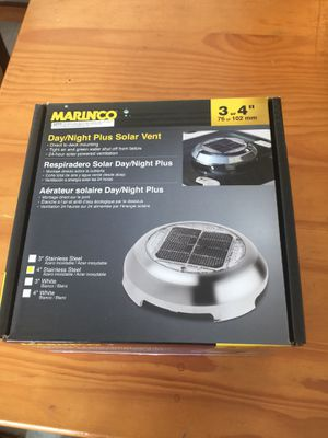 Marinco Stainless Steel Day/Night Solar Vent for Sale in Seattle, WA