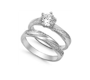 Sterling silver engagement wedding ring set in size 10 for Sale in Los Angeles, CA