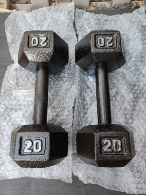 Brand New 20lb LB Cast Iron Dumbbell Weight Set of 2 40lbs Total for Sale in Santa Ana, CA