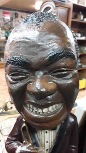 Louis Armstrong chalkware statue for Sale in Shelton, WA