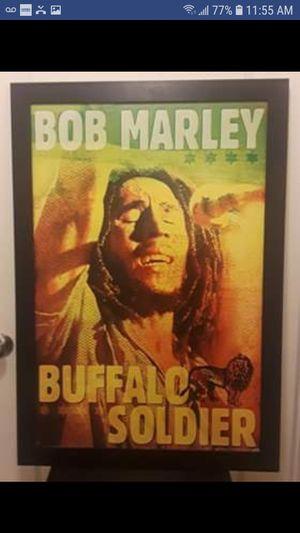 $25.00 O.B.O. Bob Marley Buffalo Soldier Framed poster/picture for Sale in Spokane, WA