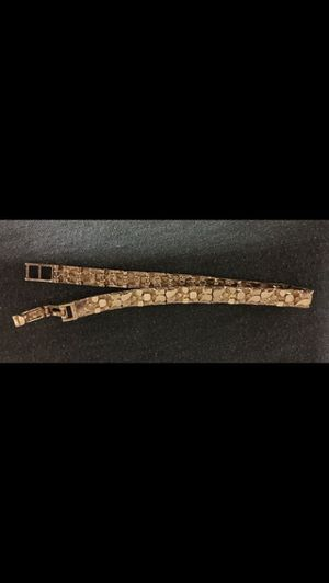 14k nugget bracelet 8.5 inches long,weighs 16 grams $650 firm willing to trade for a nice link bracelet firm price for Sale in Phoenix, AZ