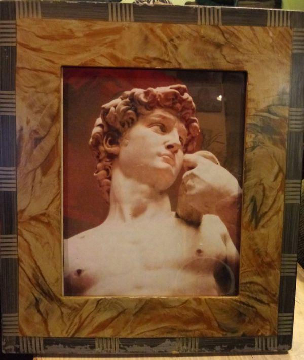 Micheal Angelo art work framed repint