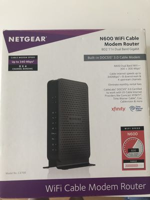 Netgear Cable Modem Router for sale | Only 2 left at -60%