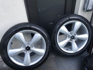 Mustang 18 inch wheels rims with pirelli tires for Sale in Coral Gables, FL