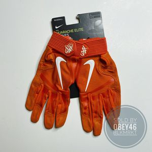 Nike Huarache Batting Gloves Orange L for Sale in San Diego, CA