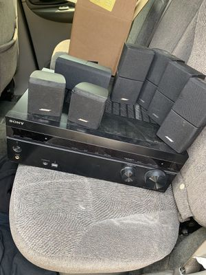 Bose surround sound system with Sony amp for Sale in Chicago, IL