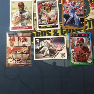 (6) Bryce Harper Baseball Card Lot for Sale in Fresno, CA