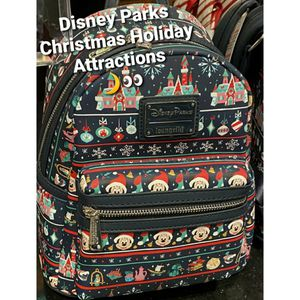 New Disney x Loungefly Backpack [Christmas Holiday Attractions] Parks Exclusive for Sale in Lakewood, CA