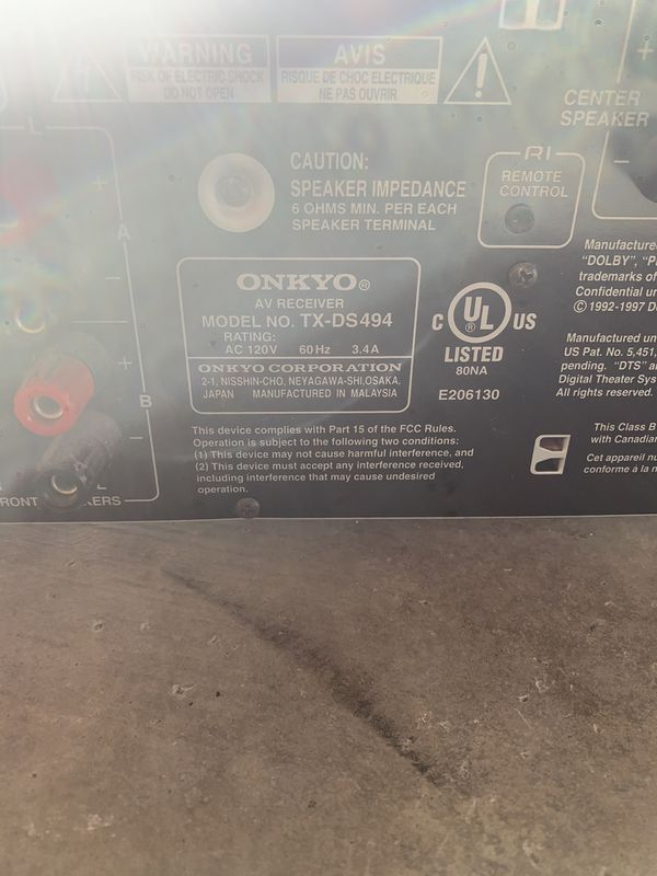 Onkyo AV Receiver with BOSE speakers