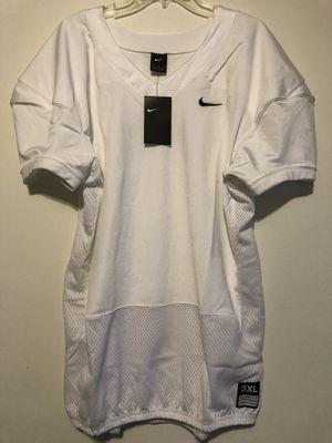 NIKE VAPOR PRO MENS FOOTBALL TRAINING JERSEY WHITE SIZE 3 XL 845929-100 MESH for Sale in Valley Center, KS