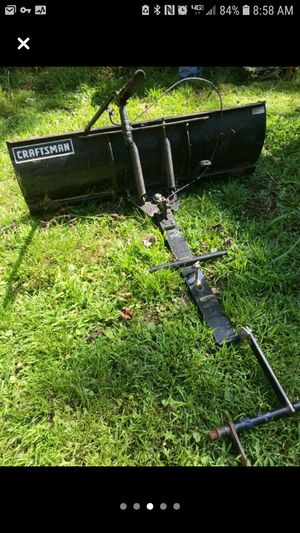 Craftsman plow / dozer blade for tractor for Sale in Bridgewater Township, NJ