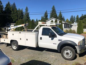 2007 ford f450 service body w/ crane low miles bullet proof for Sale in Marysville, WA