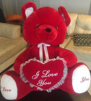 Valentine's Day Big Red Plush Teddy Bear 30 inches for Sale in Bristow, VA