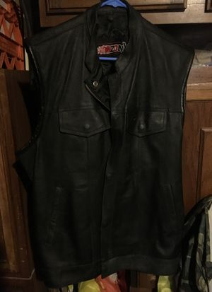 Leather motorcycle vest by Zoniy for Sale in Clementon, NJ