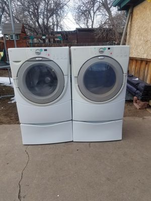 WHIRLPOOL WASHER AND GAS DRYER for Sale in Denver, CO