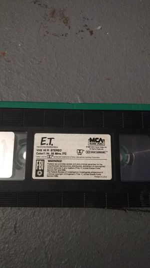 E.T. vhs for Sale in Missoula, MT