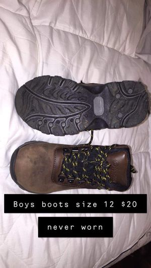 Boys size 12 boots never been worn now $15 for Sale in Leeds, AL
