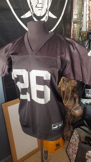 RAIDERS Napoleon Kaufman #26 PUMA printed jersey(Large) for Sale in Los Angeles, CA
