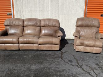 FREE DELIVERY - Rustic Reclining Couch And Chair for Sale in Tacoma,  WA