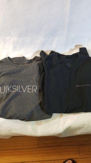 2 quiksilver shirts black/ grey for Sale in Los Angeles, CA