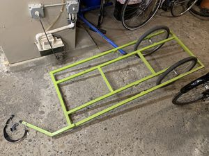 Custom steel cargo bike trailer for bicycle for Sale in Cambridge, MA