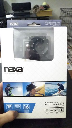 Naxa waterproof fhd action cam for Sale in Houston, TX