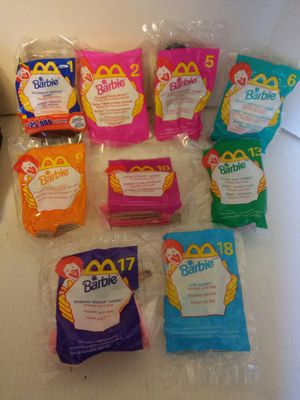 1999 McDonald's Happy Meal Barbie..Lot of 9 for Sale in Pittsburgh, PA