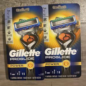 Gillette proglide power razor $9 each for Sale in San Bernardino, CA