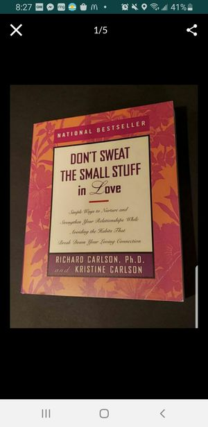 Peoria az Don't sweat the small stuff in Love softcover book please read description for pick up location options for Sale in Sun City, AZ