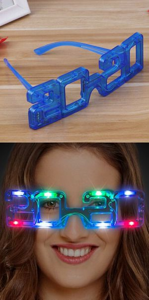 $3 each or $5 for 2 LED ring in the new year 2020 LED glasses party wear battery included for Sale in Whittier, CA