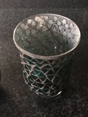 Glass mosaic candle holder for Sale in Austin, TX