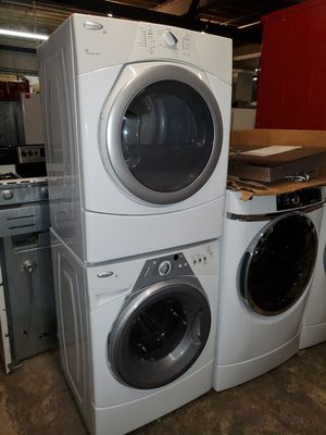 Whirlpool front load Washer and dryer set working perfectly four months warranty for Sale in Baltimore, MD