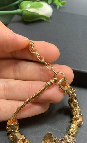 18K Gold Plated Austrian Crystal Rhinestone Star Love Heart Charm Bracelet, I love you for Sale in Irvine, CA