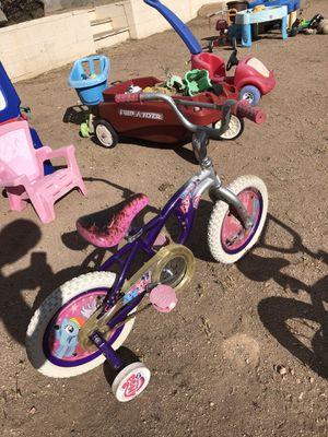 "Toddler training wheels 12"" my little pony bike for Sale in Tempe, AZ"