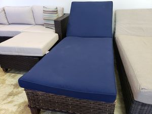 New wide seat outdoor patio furniture lounger tax included for Sale in Hayward, CA