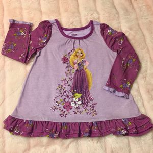 Disney Rapunzel Tangled Long Sleeves Pajama Top Size 4 for Sale in Los Angeles, CA