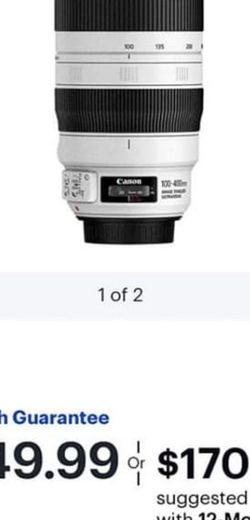canon lens $1500 new in box i have the receipt for Sale in Riverside,  CA